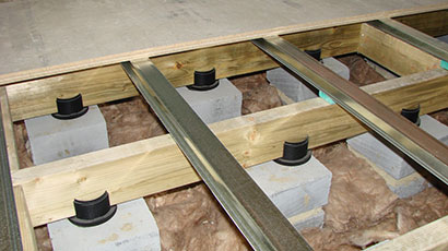 Floating Floor and Acoustic System Installation